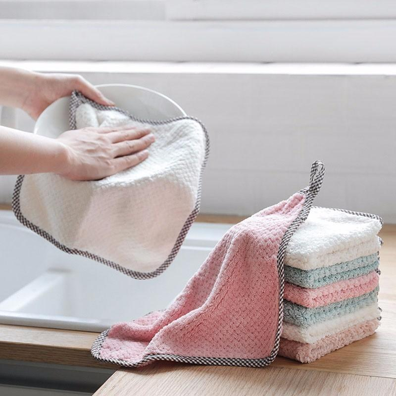 Kitchen Cleaning Wash Cloth Tablecloth Magic Hand Wash Towel Dishrag Shower Anti -fat Cleaning Cloth Kitchen Sheet Pad Cloth