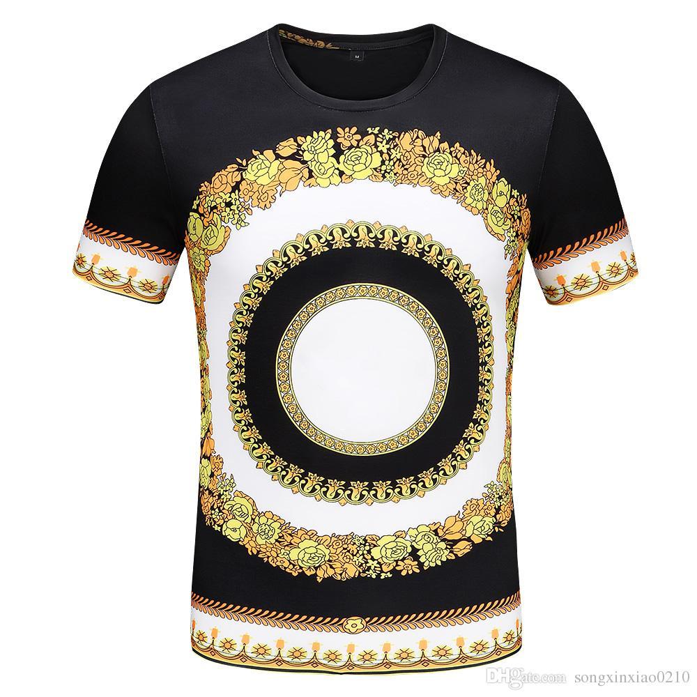 Новинка Модный дизайн Мужская повседневная хлопковая футболка с коротким рукавом Тонкие топы с бирками M-3XL
