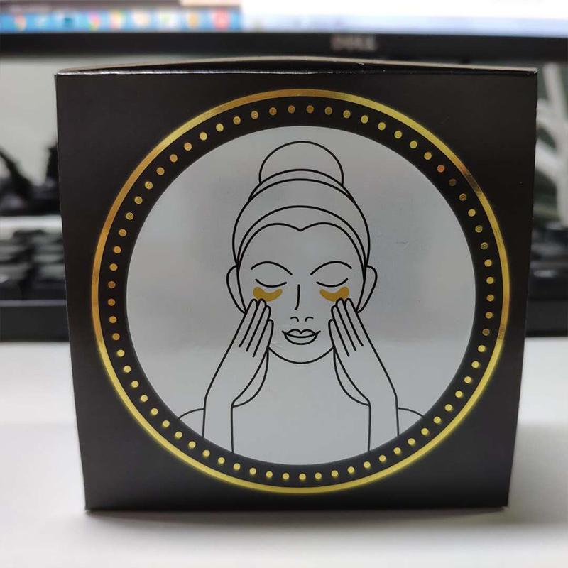 24K Gold Powder Sheet Patch Hydrate Refreshing eye Improve dry eye Black Face Skin Care Anti-Aging Mascarilla Easy absorb Wholesale Eye Mask