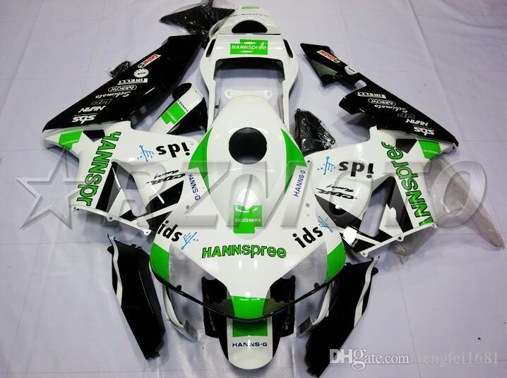 OEM qualità Nuovo ABS Carene complete Kit forma per HONDA CBR600RR F5 2003 2004 03 04 600RR Carrozzeria green set del bianco personalizzato