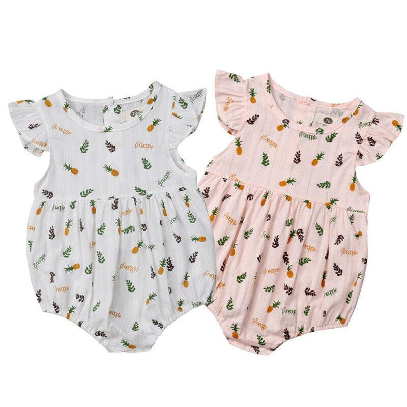 2019 Fashion Neugeborenes Baby-Baumwollspielanzug-Sommer-Kleidung sunsuit Outfits 0-24M