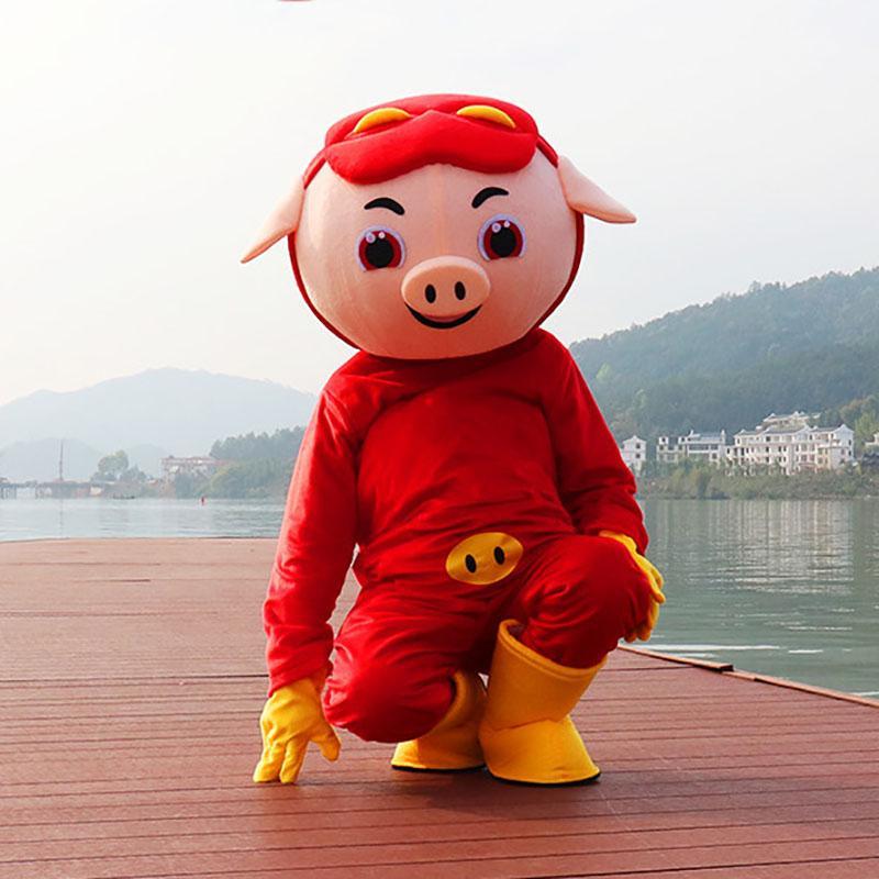Adulte Pig costume de mascotte Costume Halloween Party Dress jeu tenue de Noël et fête d'Halloween anniversaire vêtements de performance d'animation