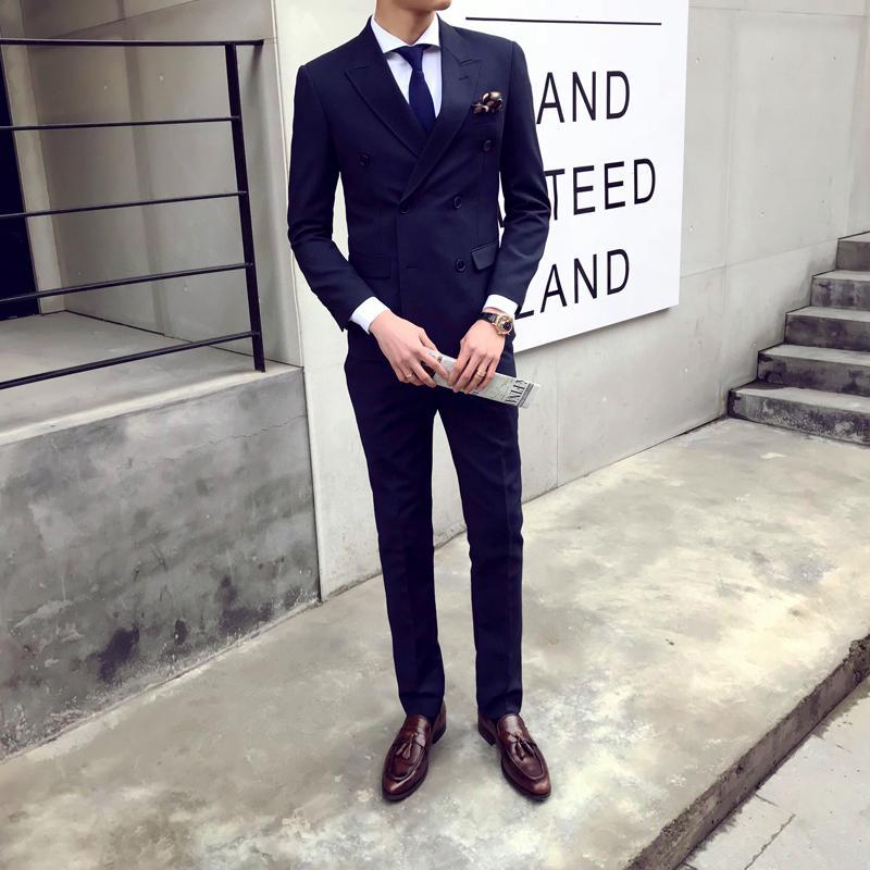 Modo di marca maschile Blazers Uomo Abiti da sposa sposo Slim Fit partito convenzionale di affari giacca da smoking Compere + Vest + vestiti di pantaloni