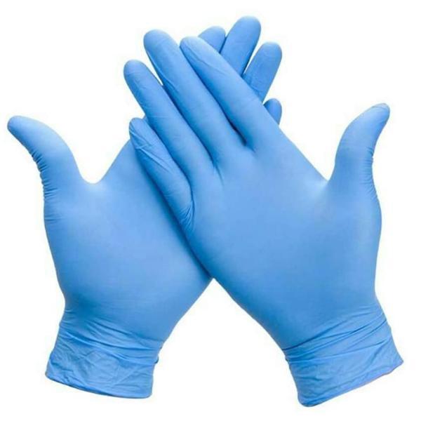 In Guanti di protezione della 100PCS monouso nitrile guanti esame Latex-free, guanto senza polvere per la pulizia, Meccanica, Industriale (Blu)