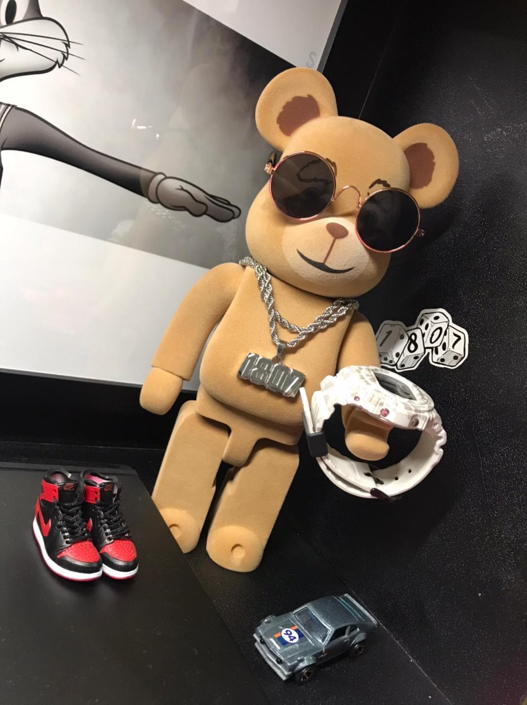 Bearbrick 컵스 폭력 곰 X 미키 Tsinglet 고양이 후지와라 스윙 400 % 인형 그림은 30 개 가지 스타일 장식 수집을 originalfake