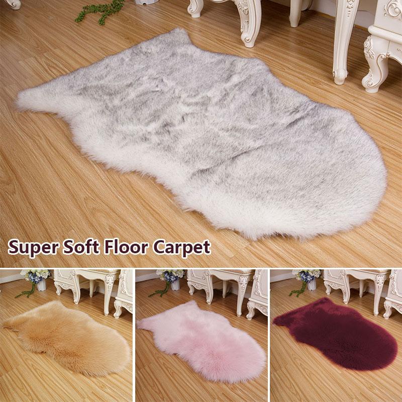 Tappeti peluche in pelliccia sintetica Tappetino antiscivolo soffice moda durevole pelle di pecora tappeto peloso decorazione decorazioni per la casa ornamento