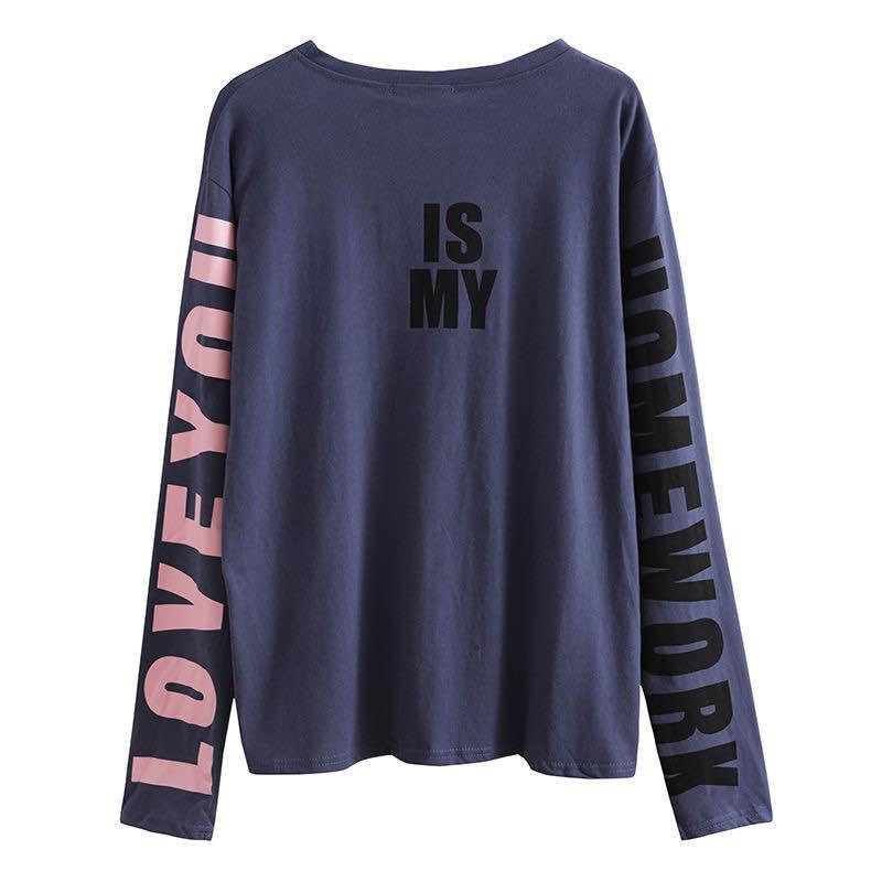 Ropa de la aptitud camisa holgada blusa femenina ejecutando los deportes de secado rápido camiseta de manga larga ropa de baile de la camisa ocasional de la yoga
