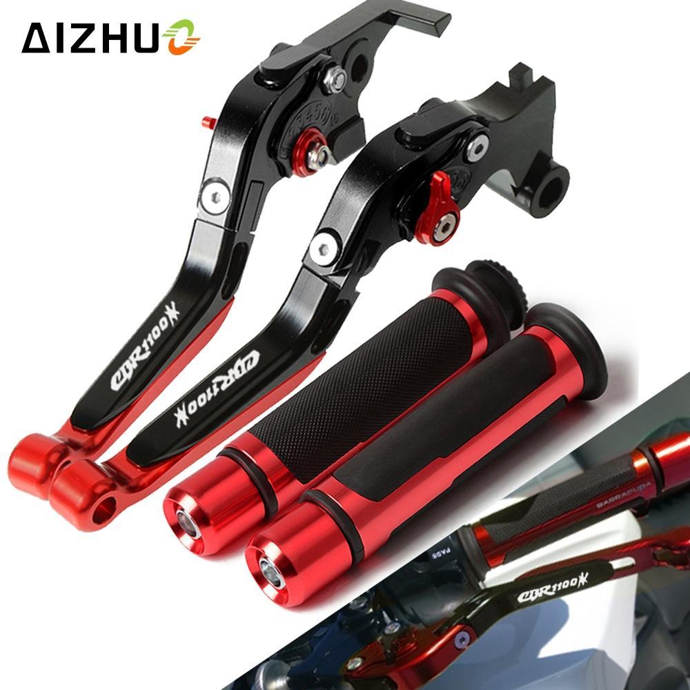 Palanca del freno de embrague ajustable extensible de agarre de la motocicleta de la mano del manillar PARA CBR 1100XX CBR1100XX CBR 1100 XX 1997-2007
