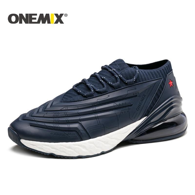 2020 ONEMIX رجال خفيفة الوزن الاحذية تقنية توسيد احذية عادية تنس أحذية الرياضة المشي الرجال تريل المدربين