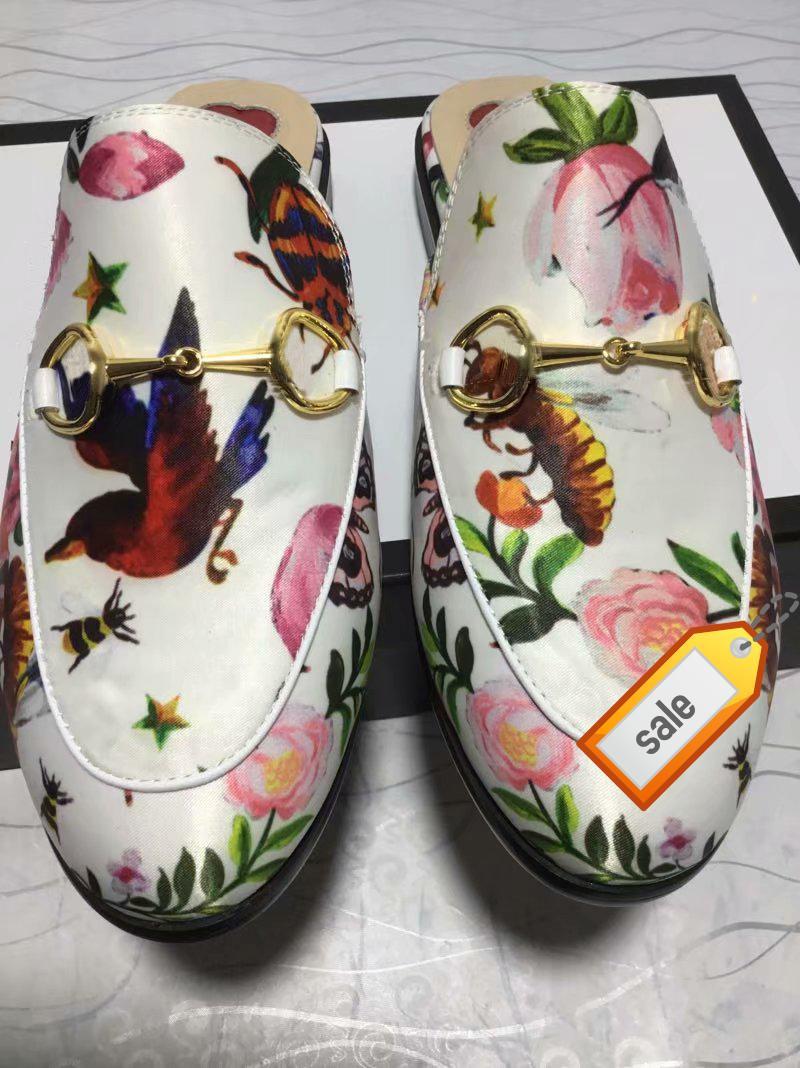 Nuovo 423513 Princetown Designer Classic scivoloso fibbia in metallo spiaggia pantofole morbide scarpe pigre