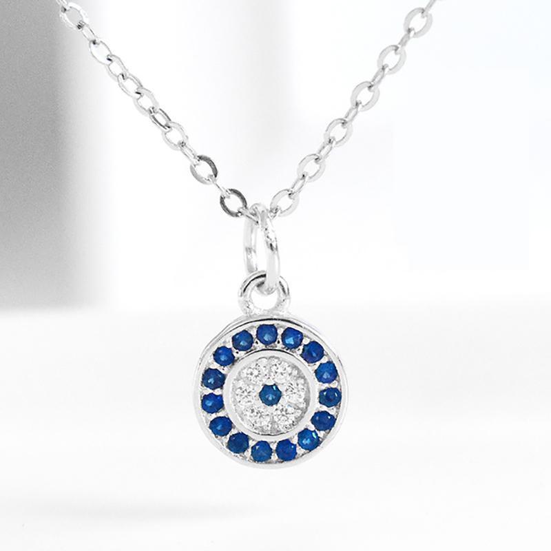 S925 tempérament féminin oeil bleu collier oeil démon en argent sterling de la chaîne clavicule collier taille basse
