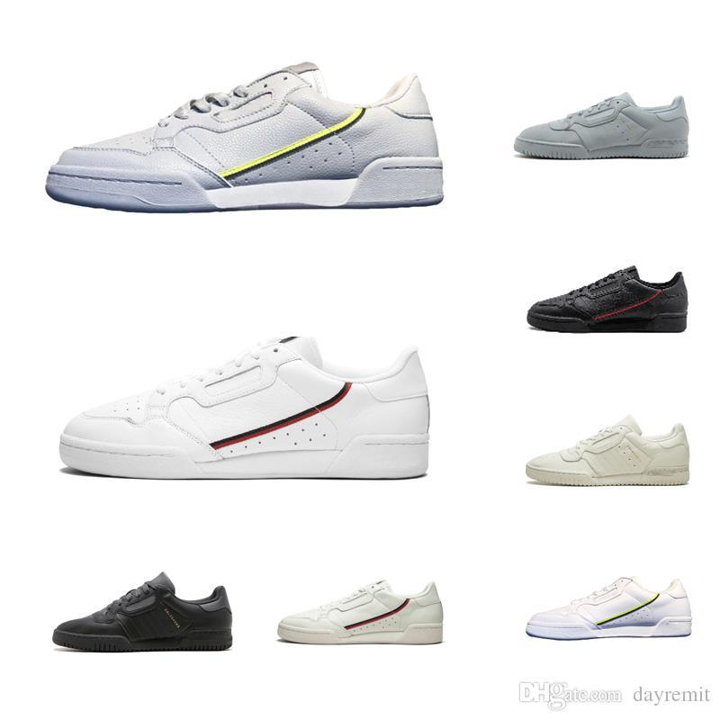 2019 Calabasas Powerphase Grey Continental 80 Scarpe casual Kanye West Aero blu Core nero OG bianco Uomo donna Allenatore Sneakers sportive