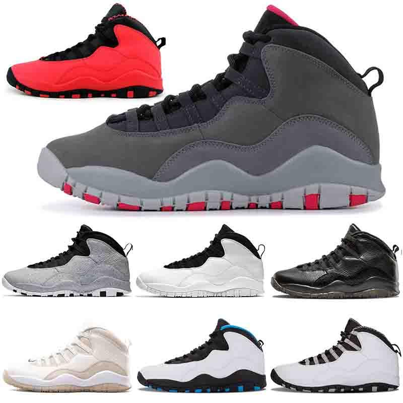Wholesale Trainers Brand Basketball Shoes 10 10s Mens Womens Tinker GS Fusion Red Im Back Powder Blue Racers Luxury Designer Sneakers