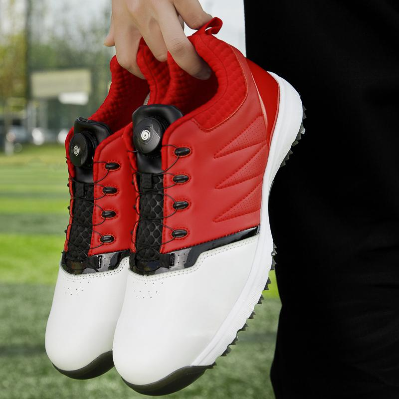 2020 New Men's Pro Waterproof Golf Shoes Men Sports Shoes spikeless Mens Training Sneakers