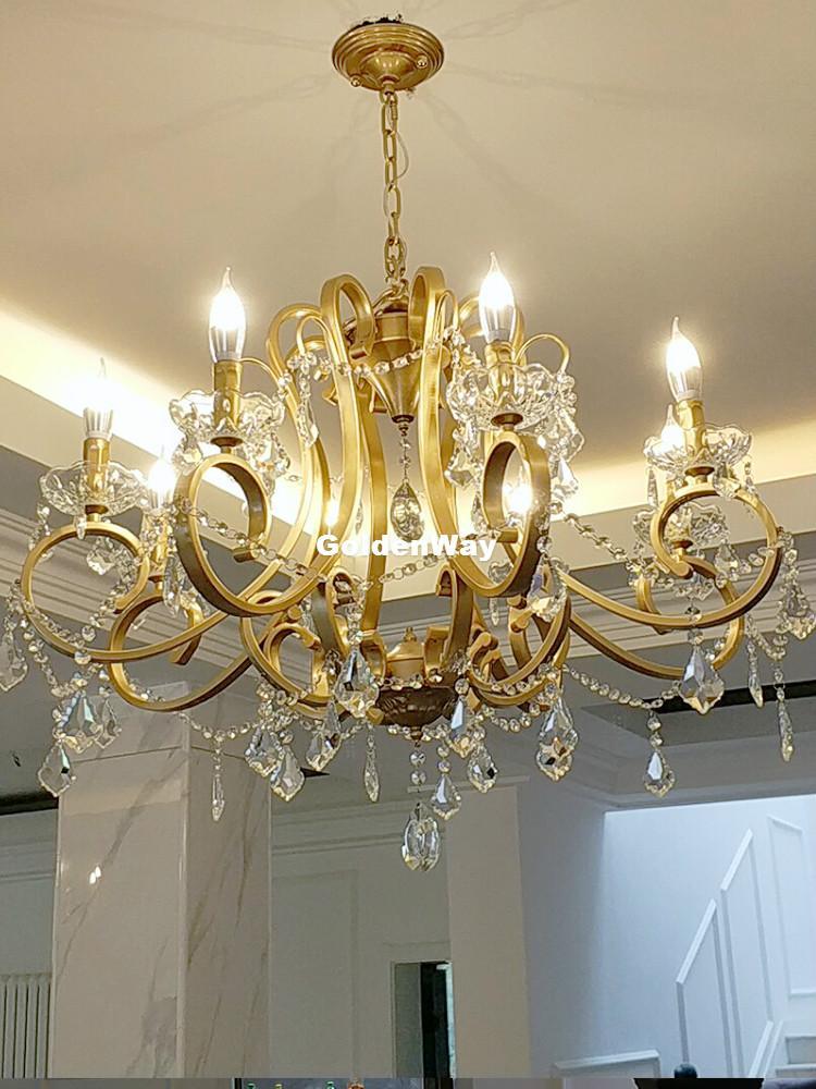Nordic Kristall-Kronleuchter Beleuchtung für Zuhause Lustres De Cristal Decke Dekoration Leuchter-Anhänger Wohnzimmer Indoor Candelabro