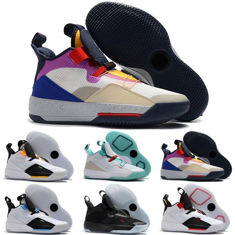 2019 Новый Jumpman 33 XXXIII 7 красочный белый зеленый фиолетовый спортивная баскетбольная обувь мужские кроссовки высшего качества multicolo дизайнерские кроссовки 7-12