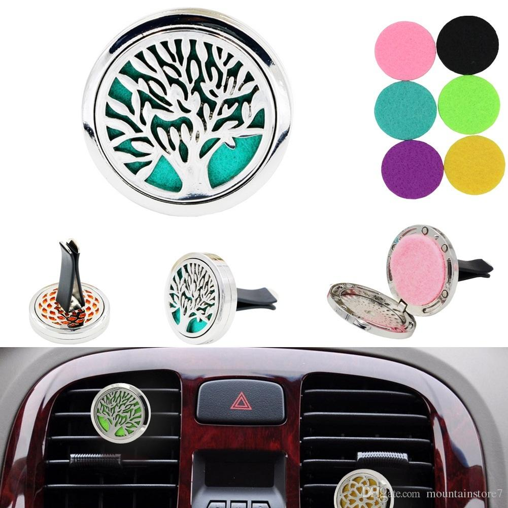 Tree of life Car perfume air freshener Auto Outlet Solid Fragrance Clip Car Air Vent Perfume Essential Oil Diffuse Car styling (Retail)