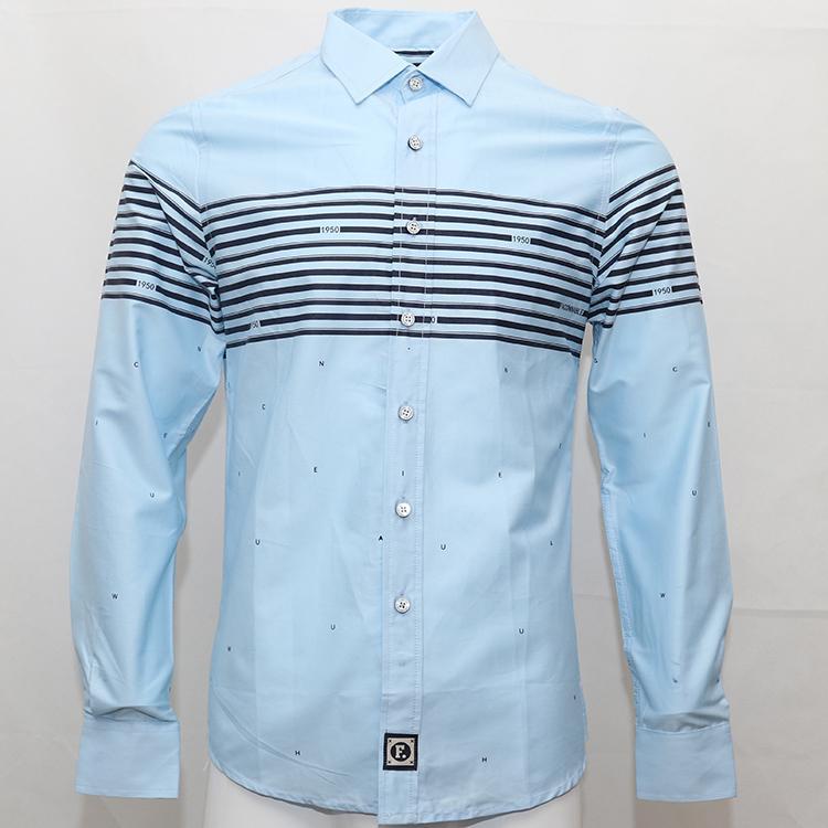 Bordado de la camisa camisa Masculina vestido de la manga larga de los hombres camisas de algodón Social parque hombre chemises Faconnable eden camisas de vestido