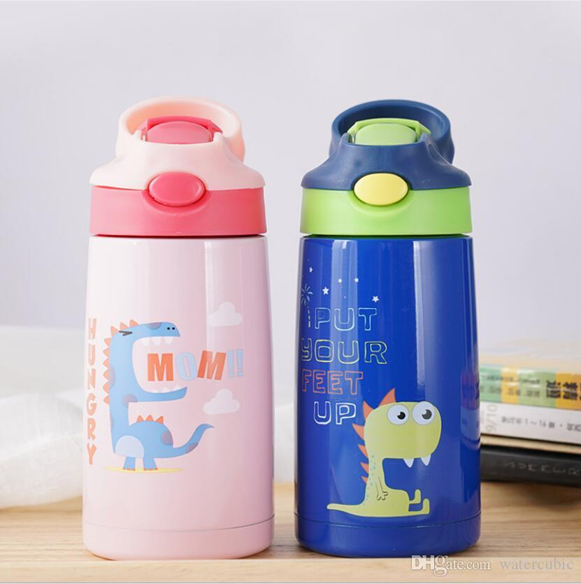 Children Water Bottle BPA Free Eco And Kid Friendly Cute Animal Print Drink Ware