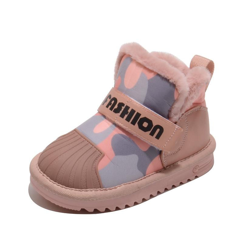 Kids Girl/'s Boys Shoes Winter Snow Boots Keep Furry Lined Soft Warm Non-Slip