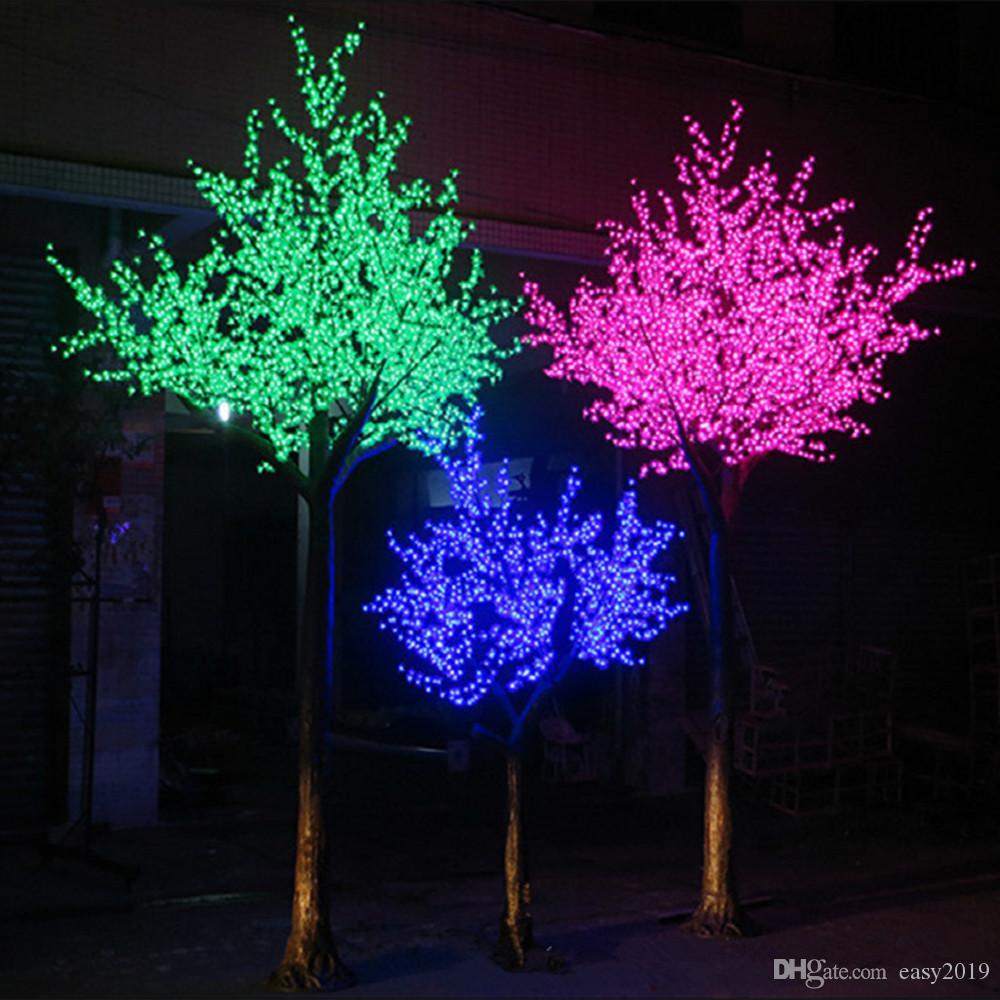 شحن مجاني انخفاض الشحن المعطف LED عيد الميلاد ضوء شجرة الكرز 1248pcs لمبات LED 2.5M الطول داخلي أو استخدام في الهواء الطلق