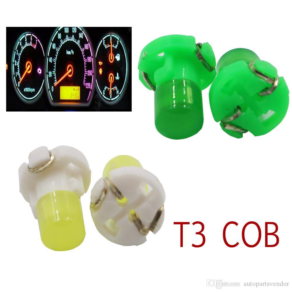 300PCS 12V T3 led car cob Neo Wedge Instrument Dashboard Dash Indicator Light Bulb DC Panel Bulb red blue white auto