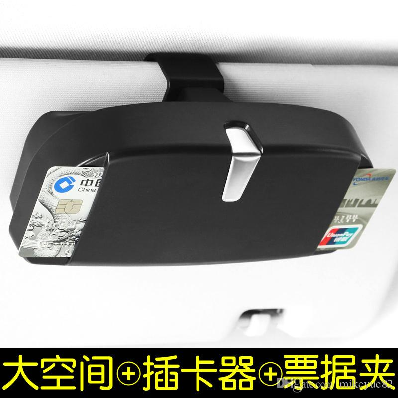 Araba-Styling, Universal Araç Güneşlik Gözlük Kutusu Güneş Gözlüğü Bilet Makbuz Klip Depolama Tutucu gözlük ve kartlar araba tutucu