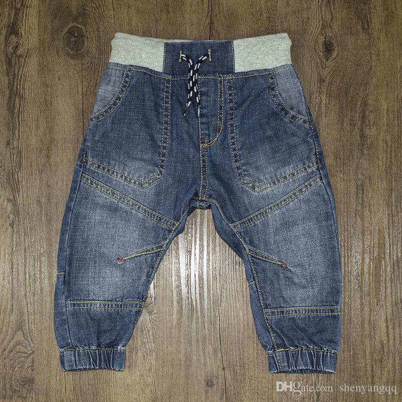 Pantalones vaqueros para bebés recién nacidos Niños Pantalones de niñas Pantalones de mezclilla suaves Pantalones para niños Pantalones de chándal Harem Cintura elástica Ropa para niños pequeños