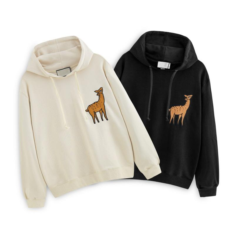 Толстовка Для женщин людей конструктора капюшона Sweatershirts Deer печати Повседневных дизайнерский бренд пуловер Лучшего качества Весна Осень Зима B101687V