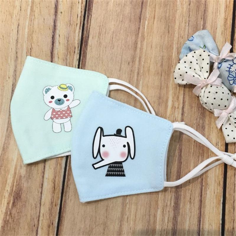 Earloop Rosto Ajustável Máscara Máscaras crianças dos desenhos animados Boca Respiradores lavável animal Padrão Hot Sale 3 8LL UU