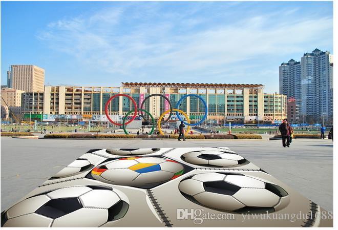 방수 욕실 용 축구 경기장 광장 그림 벽지