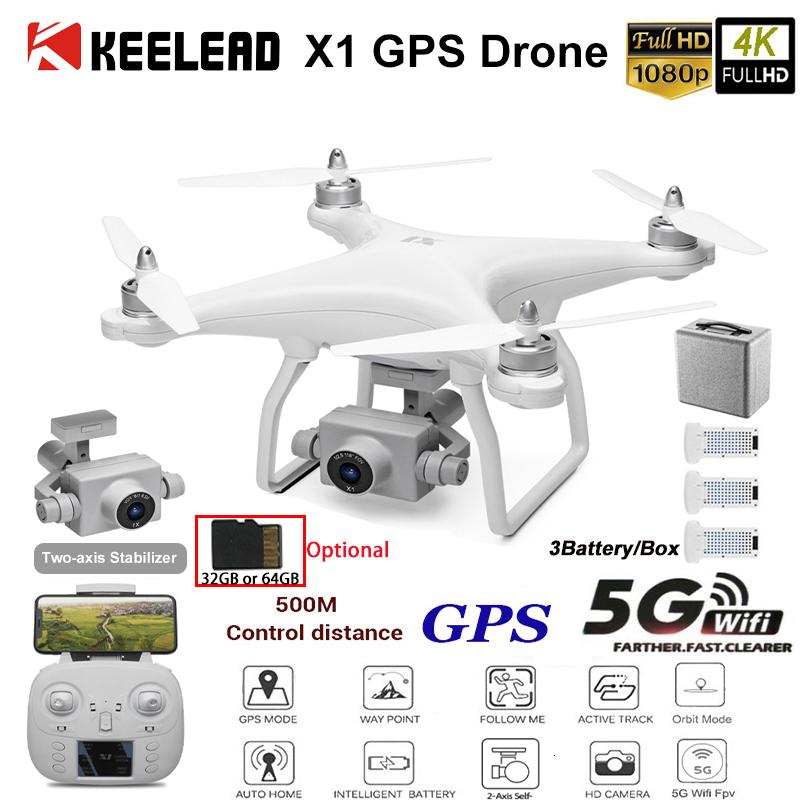 WL XK X1 GPS Drone 4K Two-axis gimbal Stabilizer 5G WiFi 1080P HD Camera Drones profissional RC Quadcopter Dron VS F11 pro SG906 T191015
