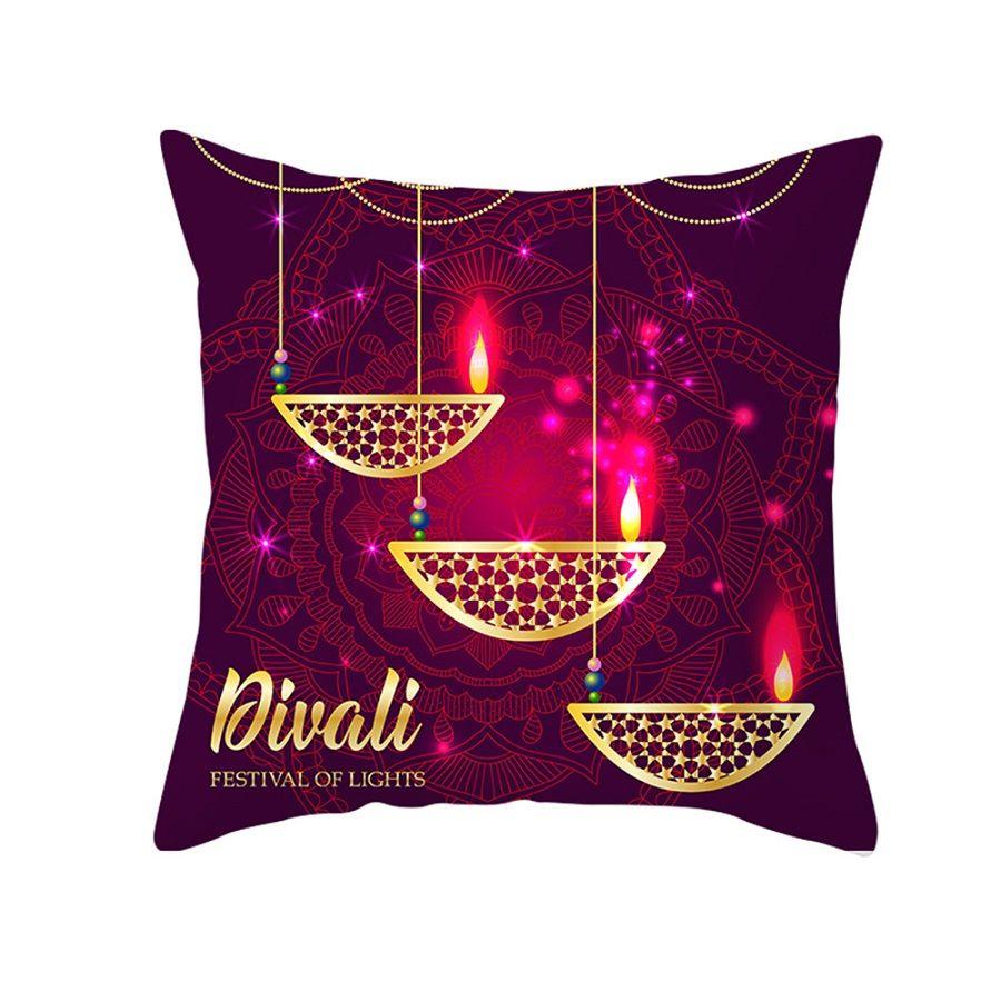 Musulmano Ramadan Decorazione per la casa di cotone Sedile Cuscino copriletto Lanterna Cuscino copriletto Eid Mubarak Decor