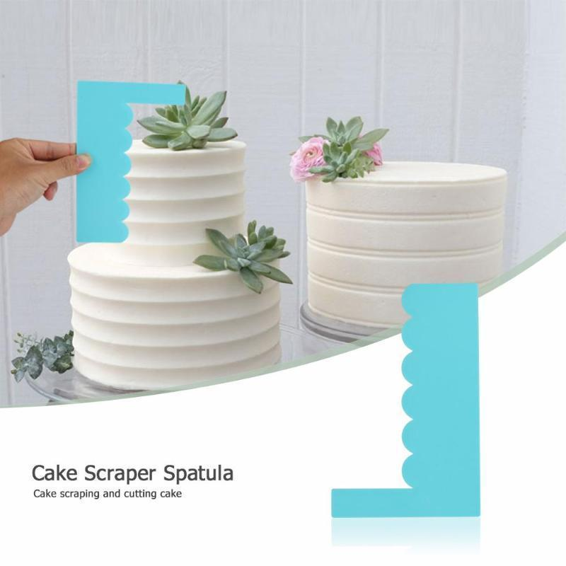 Edge Pastry Tools Plain Smooth Cream Spatulas Cake Scraper Fondant Baking Mold