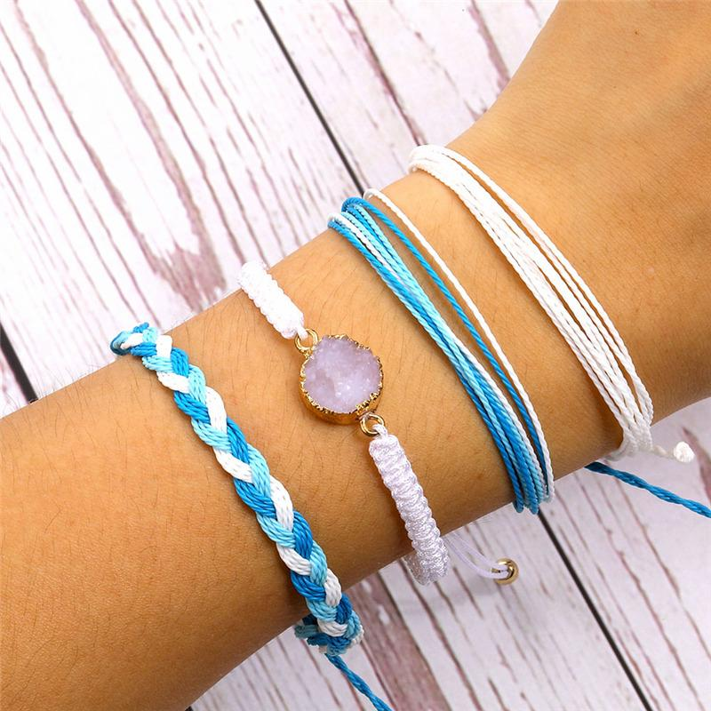 Bohemian Natural Stone Bracelet For Women 2020 New Handmade Adjustable Rope Bracelet Friendship Fashion DIY Jewelry Male Gifts