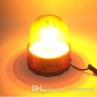 80 LED led leuchtfeuer gelb auto fahrzeug magnetisch montiert polizei notbeleuchtung blitz rotierend blinkend warnleuchte leuchtfeuer notfall