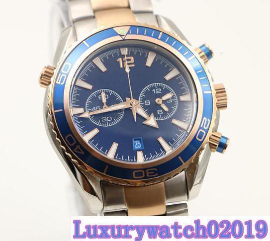 2 estilos Mens Sport Diver Relógios de movimento de quartzo relógio de pulso agente 007 relógios de pulso favoritos bisel rotativo banda de aço dois tons