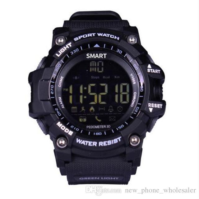 EX16 Akıllı Saatler Bluetooth Su Geçirmez IP67 Smartwatch Relogios Pedometre Kronometre Kol Spor İzle iPhone Android Telefon Için Izle