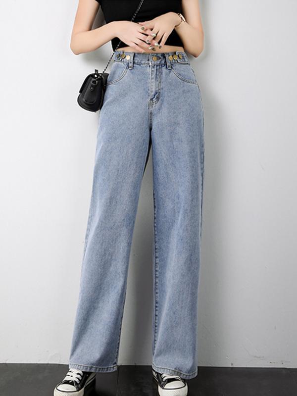 2020 NUOVO A Vita Alta Pantaloni Larghi del Piedino Dei jeans Delle Donne di Estate Elastico In Vita Allentato Casual pulire Full-Length Streetwear Jeans Diritti