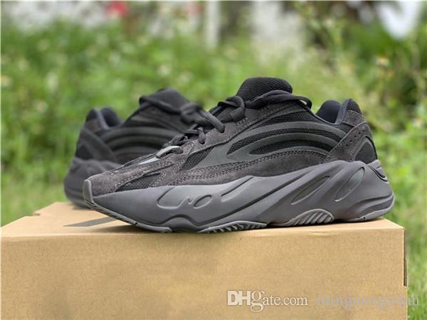 2019 Nuove uscite 700 V2 Vanta FU6684 Kanye West Statico camoscio nero 3M riflettenti Scarpe da corsa Sport Sneakers