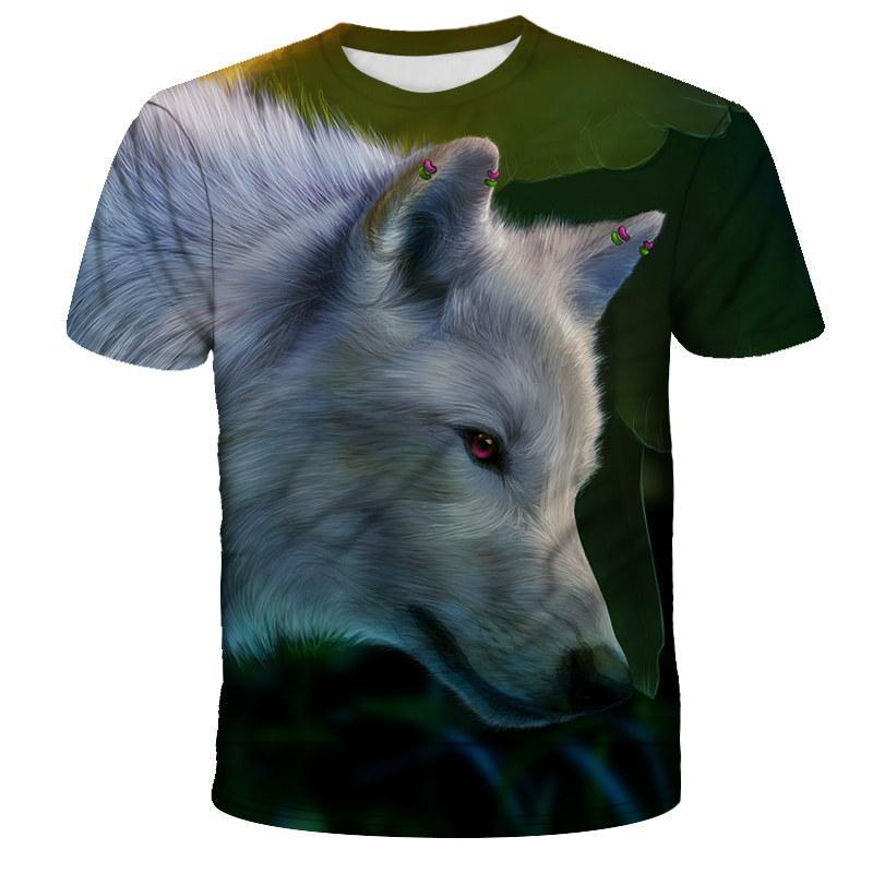 Männer T-Shirt Druck 3D Wolf lässige T-Shirt mit dem berühmten Marke jungen Mode-lustigen T-Shirts Männer-Kleidung Hip-Hop-Männer übersteigen T-Shirt