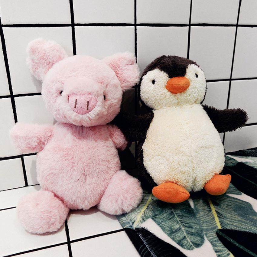 Carino Stuffed Animals peluche del pinguino del giocattolo elefante maiale anatra gufo peluche giocattolo animale del fumetto della peluche decorazione in camera