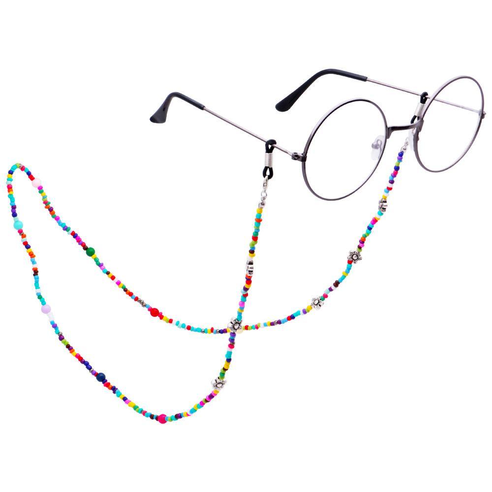 Mode de lecture Lunettes chaîne perles colorées Lunettes de soleil Cord Spectacle pour les femmes Accessoires Anti Slip Lunettes Cord