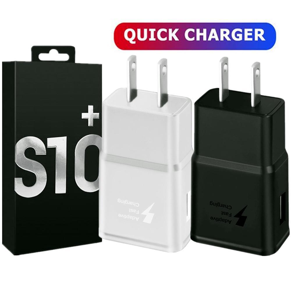 S10 rápida adaptación del cargador de pared Adaptador 5V 2A 9V 1.67A QC3.0 de energía para Samsung Galaxy S6 S7 S8 S9 S10 + Nota 8 9 10 iphone 7 8 x 10 GPS PC Pro
