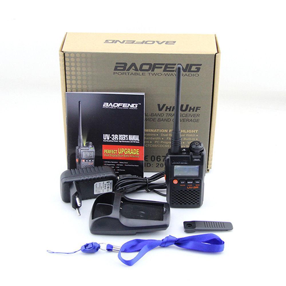 100pcs dual band walkie talkie BAOFENG UV-3R II two way radio dhl free
