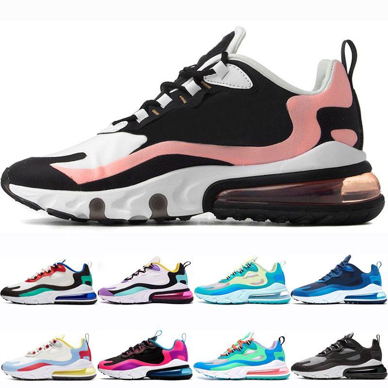 Compre Nike Air Max 270 React 2020 El Más Reciente Reaccionar Los Zapatos  Corrientes De Los Hombres De Las Mujeres Blanqueado De Coral Situado  Violeta ...