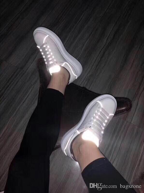 3M yansıtıcı UK tasarımcı ayakkabılar 2019 moda lüks tasarımcı kadın ayakkabı Parti Platformu rahat spor ayakkabıları Euro 36-45 mens