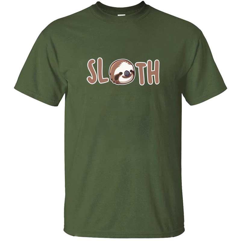 Sloth maglietta della stampa di estate uomini della maglietta maglietta dei vestiti uomini donne HipHop