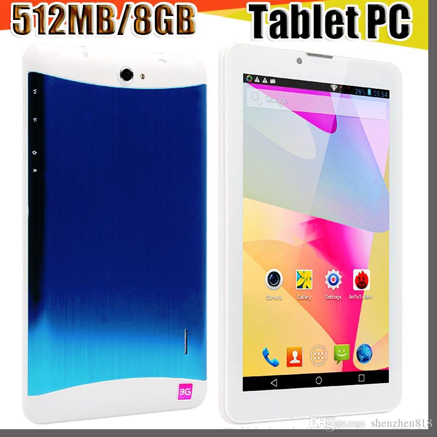 818 tablet pc 7 inch 3G Phablet Android 4.4 MTK6572 Dual Core 512MB 8GB Dual SIM GPS Phone Call WIFI Tablet PC cheap china phones B-7PB