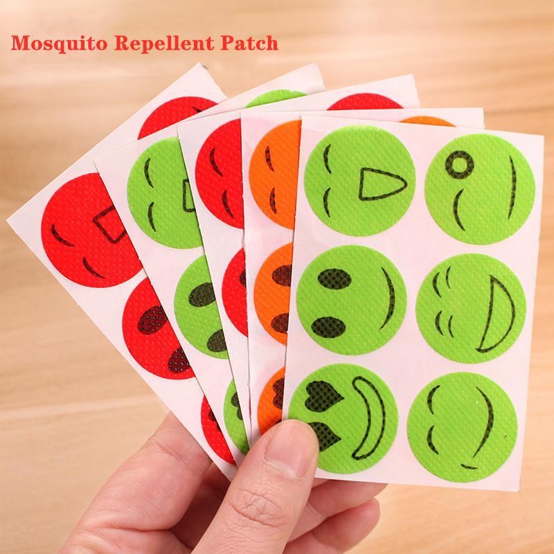 저렴한! 6PCS 부직포 모기 구충제 패치 귀여운 안티 모기 스티커 패치 건강한 녹색 식물 에센셜 피 버그 Paster Balmist